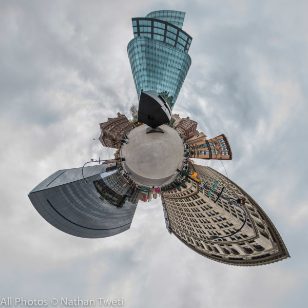 Little Planet Projection of the Astor Place Panorama.